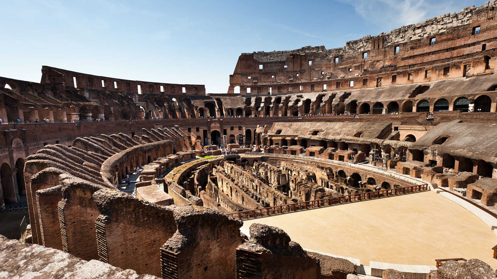 Rome: the interior of the Colosseum