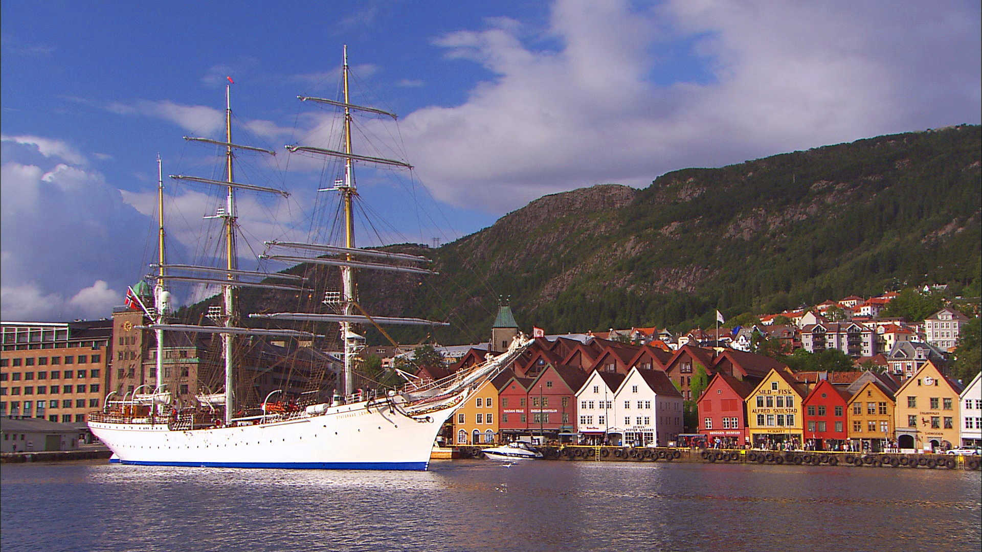 Bergen's harbor, in Norway
