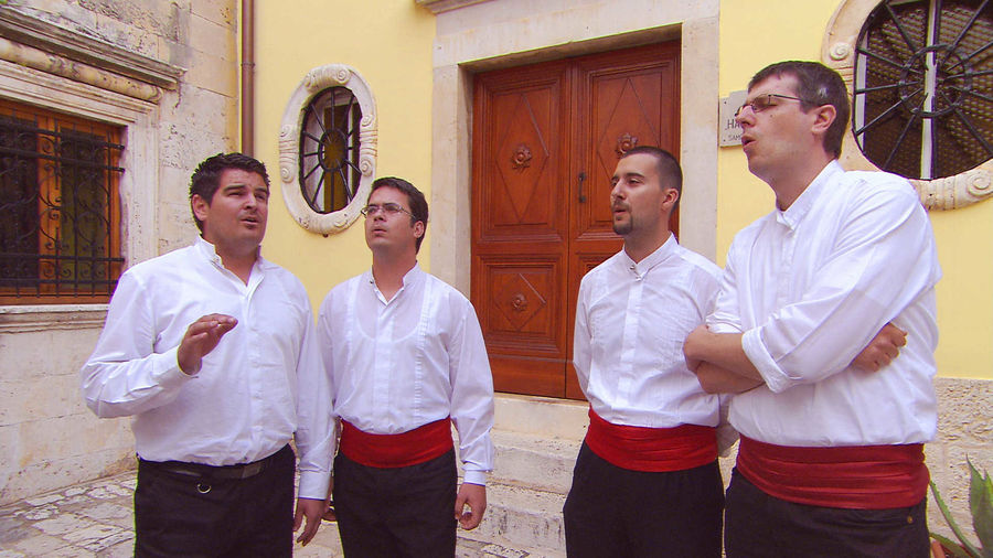 Klapa singers, Hvar, Croatia