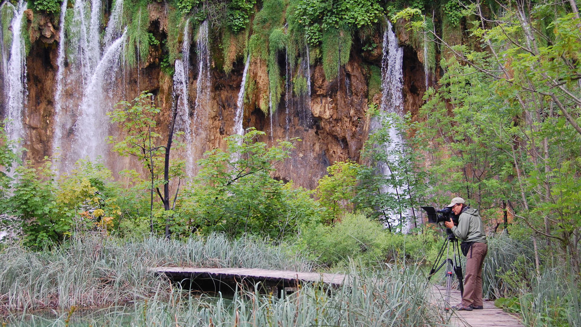 Cameraman Karel Bauer in Plitvice Lakes National Park, Croatia