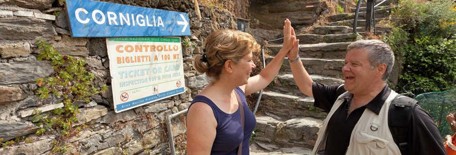 Hiking to Corniglia (Cinque Terre), Italy