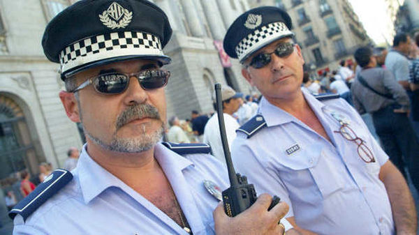Police officers in Barcelona