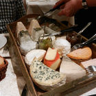 An assortment of french cheese