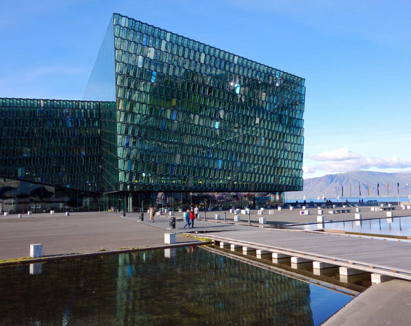 Harpa Hall is the concert hall for Reykjavik, Iceland