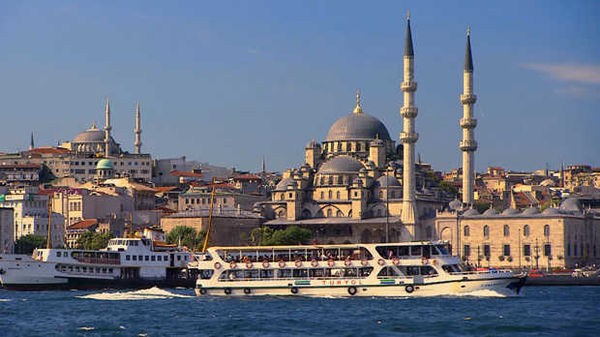New Mosque and Golden Horn, Istanbul, Turkey