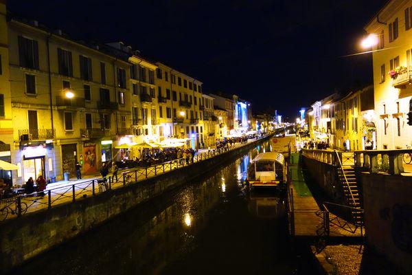 Naviglio Grande canal, Milan, Italy