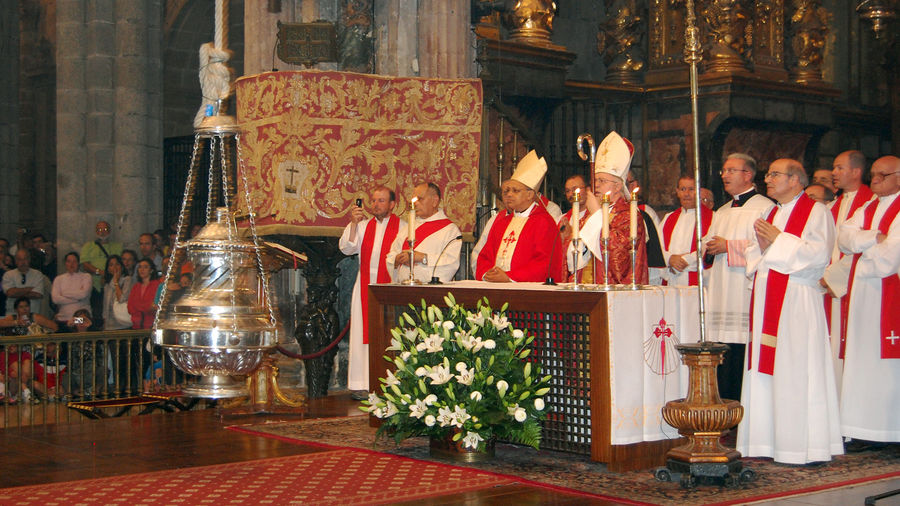 Mass in the cathedral of Santiago de Compostela, Spain