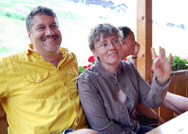 B&B hosts Olle and Maria Eggimann, Gimmelwald, Switzerland