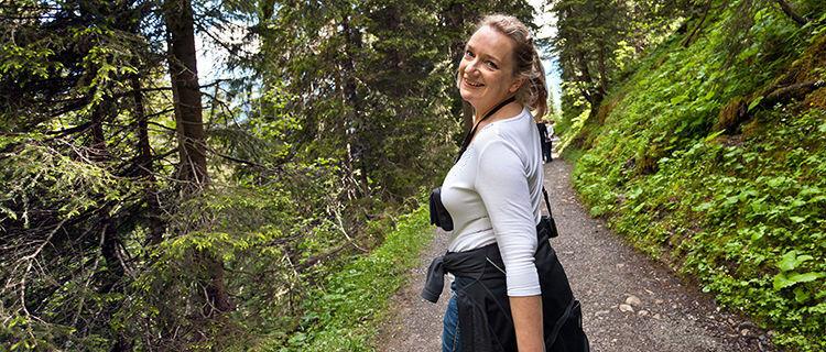 On the Grütschalp–Mürren trail, Berner Oberland, Switzerland