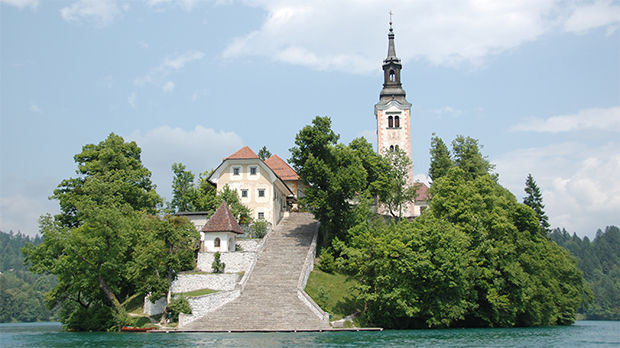 Church of the Assumption, Blejski Otok, Lake Bled, Slovenia