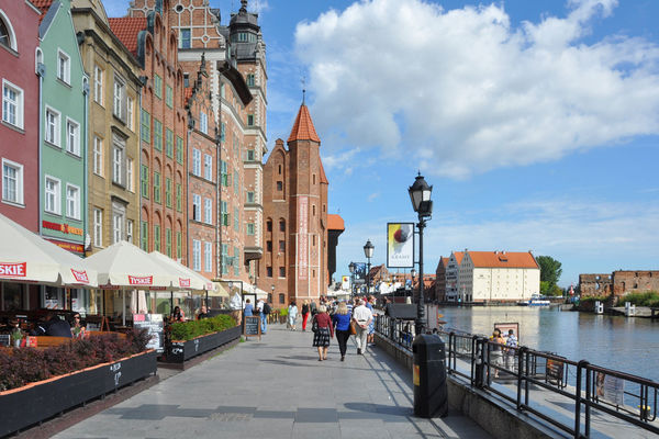 Riverfront embankment, Gdańsk, Poland