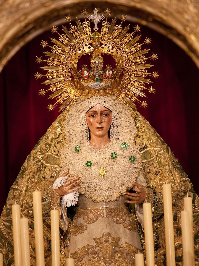 La Macarena (Weeping Virgin) statue, Basílica de la Macarena, Sevilla, Spain