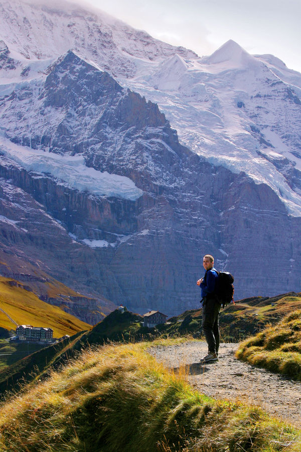 On the Männlichen–Kleine Scheidegg trail, Berner Oberland, Switzerland