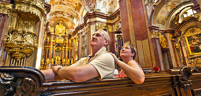 Melk Abbey church, Melk, Austria