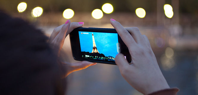 Photographing the Eiffel Tower, Paris, France