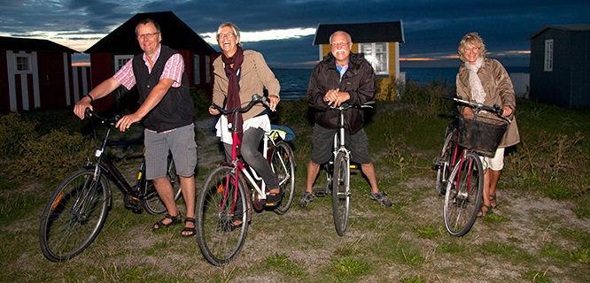 Evening bike ride at Urehoved Beach, Ærøskøbing, Denmark