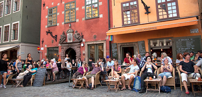 Stortorget café scene, Stockholm, Sweden