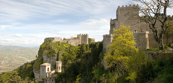 Fortresses in Erice, Sicily, Italy