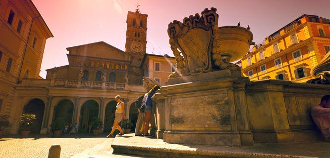 Basilica of Santa Maria in Trastevere, Rome, Italy