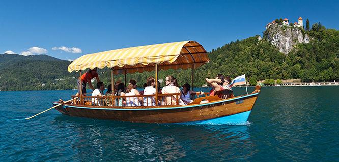Pletna boat, Lake Bled, Slovenia