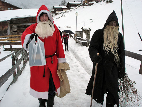 Samichlaus and Schmutzli, Gimmelwald, Switzerland