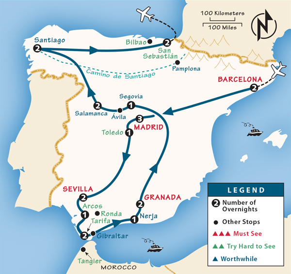 Map Of South West France And Northern Spain.Spain Itinerary Where To Go In Spain By Rick Steves