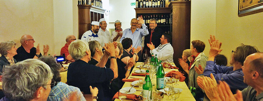 Applauding the chef, Florence, Italy