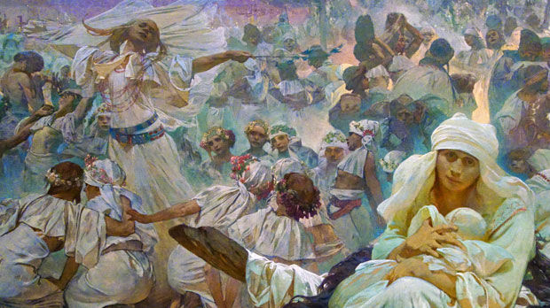 Detail of Mucha's Slav Epic, Prague, Czech Republic