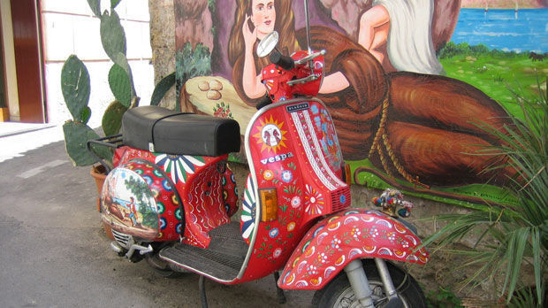 Painted Vespa, Palermo, Sicily, Italy