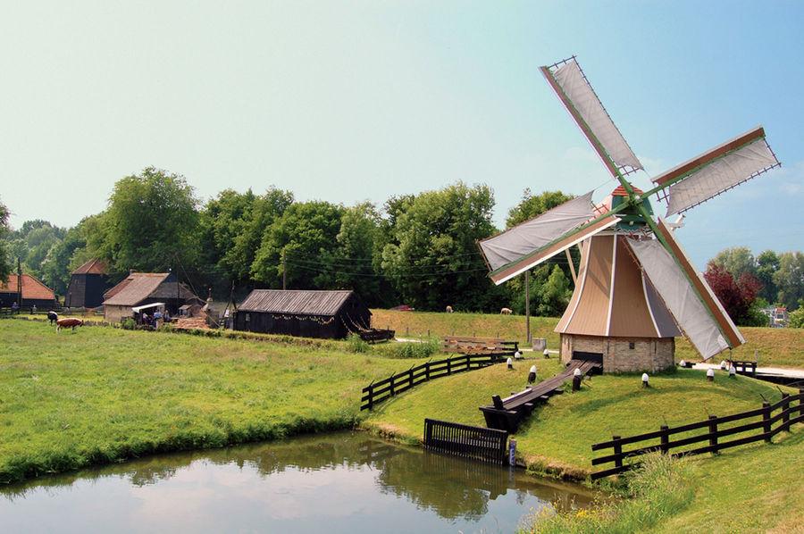 Windmill in Zuiderzee Museum, Enkhuizen, Netherlands