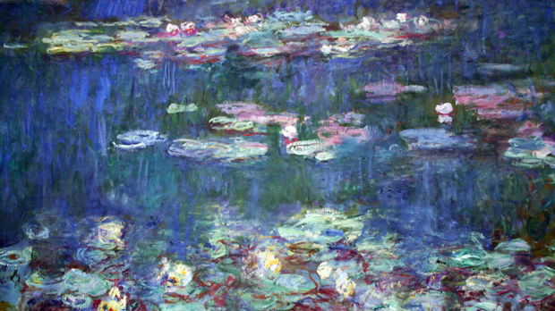 'Water Lilies' (Claude Monet), Orangerie Museum, Paris, France