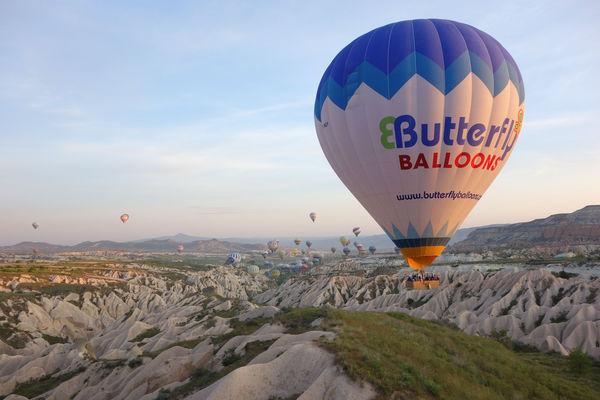 Balloons in Cappadocia, Turkey