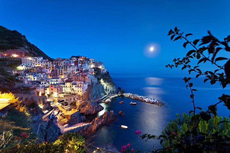 Moonlit Manarola (Cinque Terre), Italy