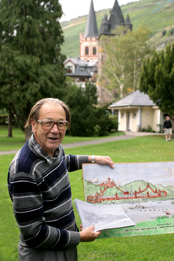 Beloved former schoolteacher and local guide Herr Rolf Jung, Bacharach, Germany