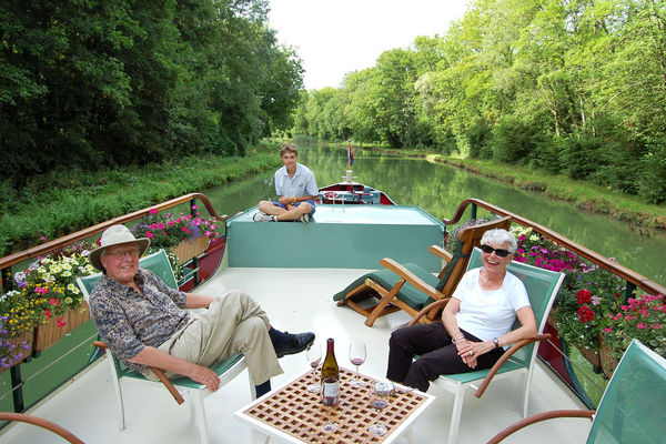 Barge cruise, Burgundy, France