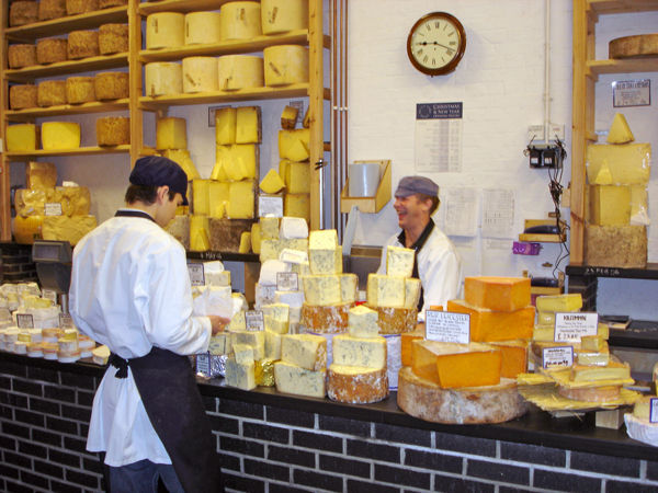 Borough Market cheese shop, London, England