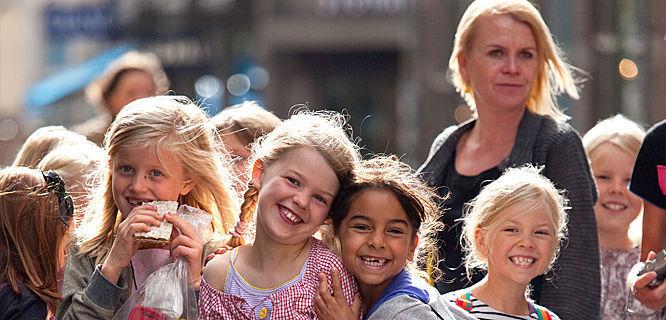 Schoolkids in Copenhagen, Denmark