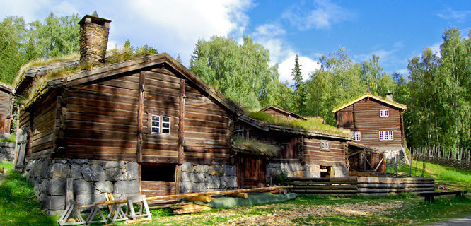 Maihaugen Open-Air Folk Museum, Lillehammer, Norway