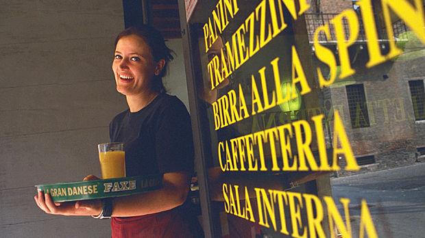 Café waitress, Verona, Italy