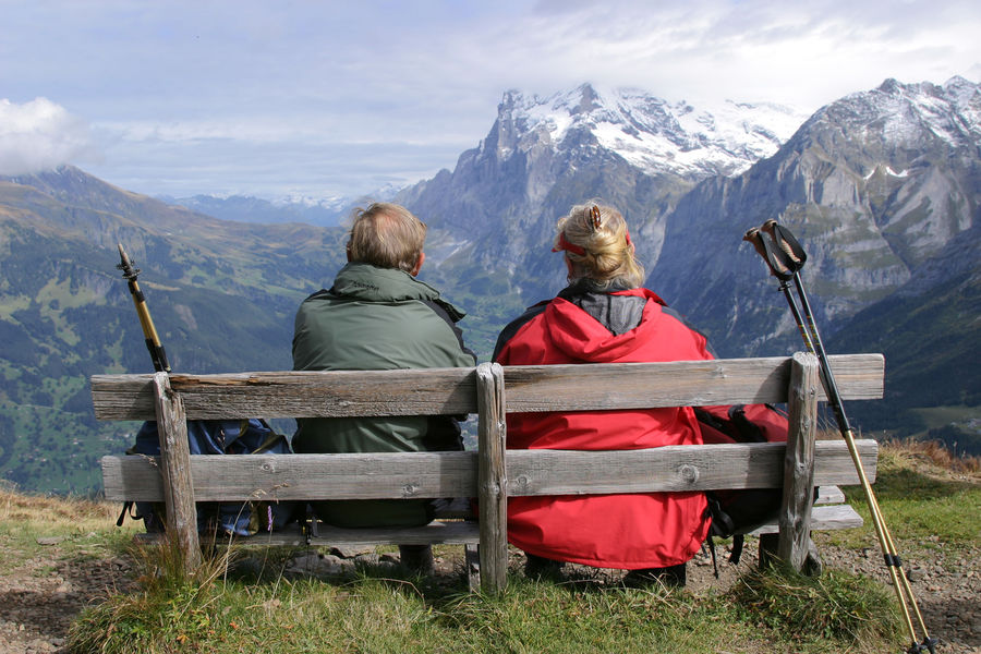 Overlooking Grindelwald from the Männlichen–Kleine Scheidegg trail, Berner Oberland, Switzerland