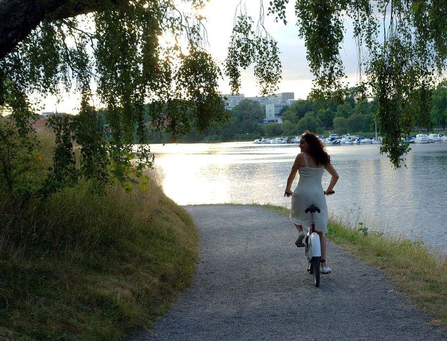 Djurgården bike ride, Stockholm, Sweden