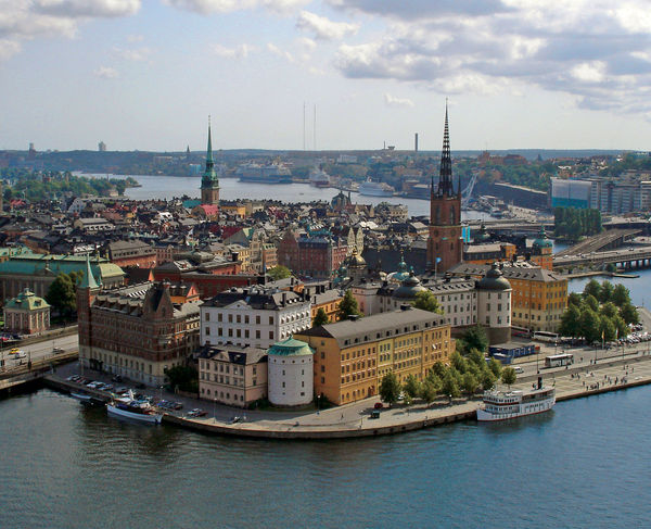 Riddarholmen and Gamla Stan as seen from City Hall Tower, Stockholm, Sweden