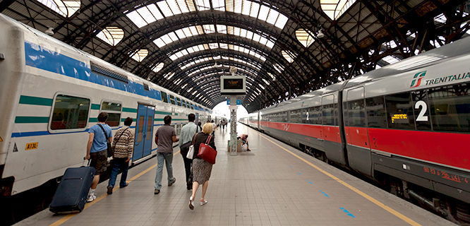 Centrale train station, Milan, Italy