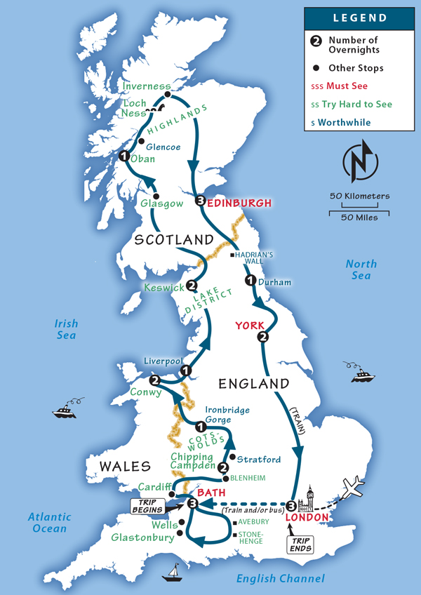 Map Of England Ireland Scotland Wales.Great Britain Itinerary Where To Go In Great Britain By Rick Steves