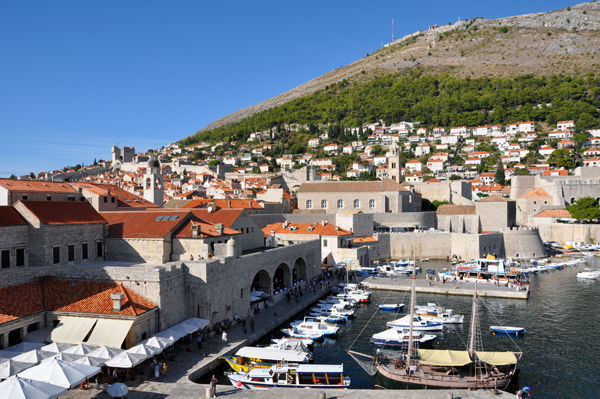 Harbor of Dubrovnik, Croatia