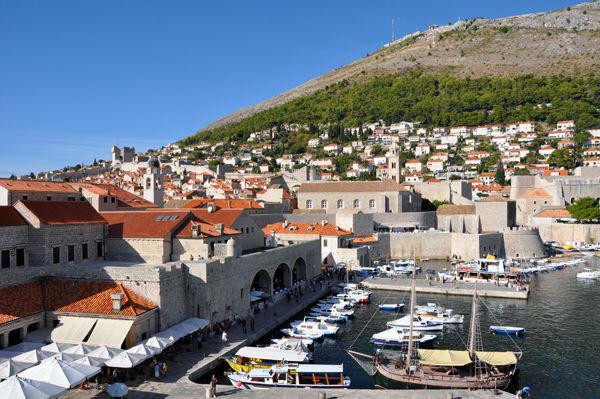 Harbor of Dubrovnik, Croatia