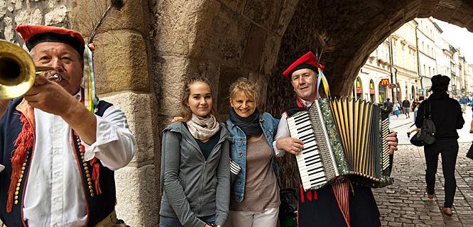 Street musicians, Kraków, Poland
