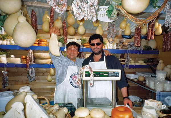Salami shop, Sicily, Italy