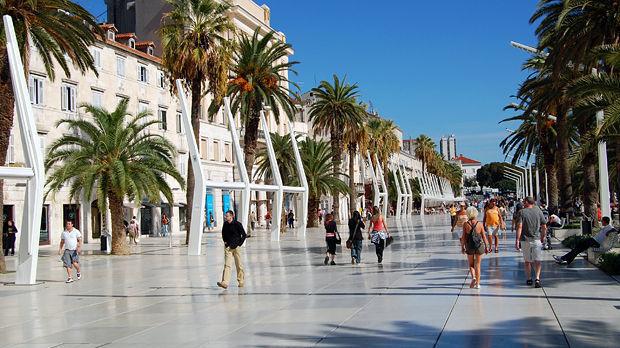 Strolling the Riva, Split, Croatia