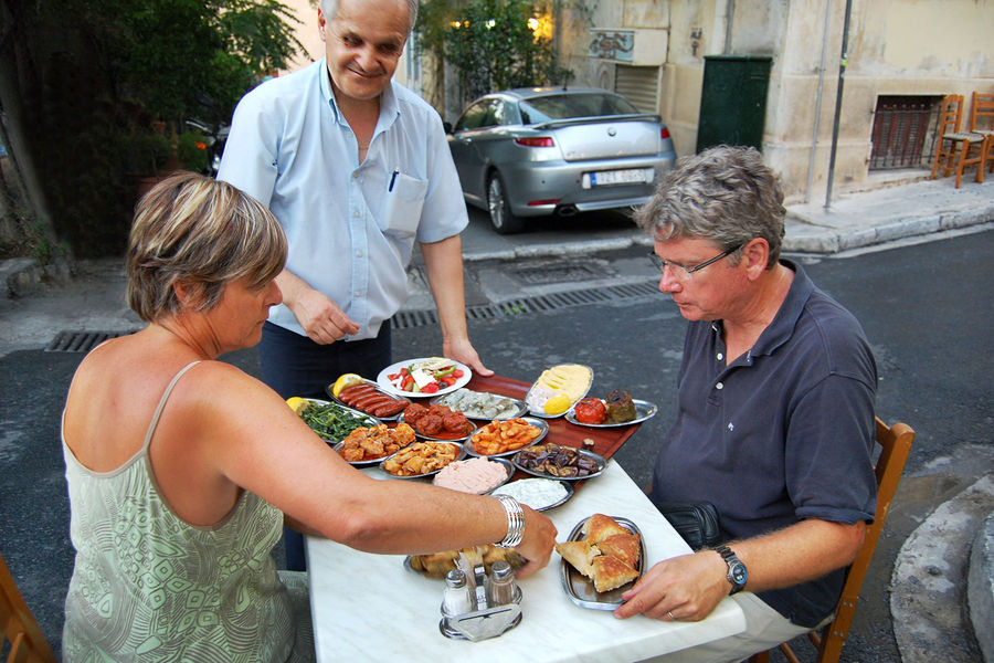 Streetside dining, Athens, Greece